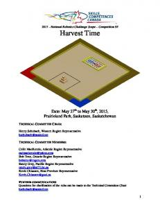 Date: May 27 th to May 30 th, 2015, Prairieland Park, Saskatoon, Saskatchewan