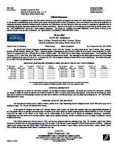 Date of Sale: Tuesday, October 22, 2013 Standard & Poor s... Official Statement