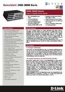 Datenblatt: DGS-3600 Serie