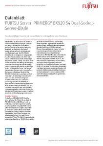 Datenblatt FUJITSU Server PRIMERGY BX920 S4 Dual-Socket- Server-Blade