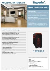 DATENBLATT. Home & Office PC-Serie