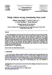 Dating violence among emancipating foster youth