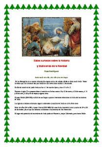 Datos curiosos sobre la historia. y tradiciones de la Navidad