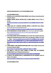 DATOS DE COYUNTURA DEL 15 AL 22 DE NOVIEMBRE DE 2011