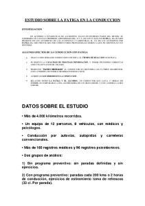 DATOS SOBRE EL ESTUDIO