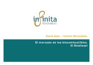 David Acea Infinita Renovables El mercado de los biocombustibles. El Biodiesel