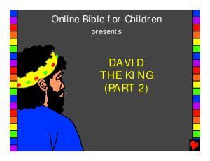 DAVID THE KING (PART 2)