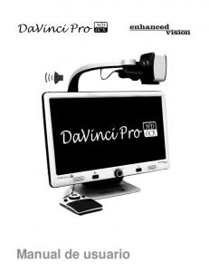 DaVinci Pro User Manual Outline