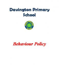 Davington Primary School. Behaviour Policy