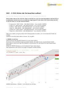 DAX - 6 DAX Aktien die Sie beachten sollten!