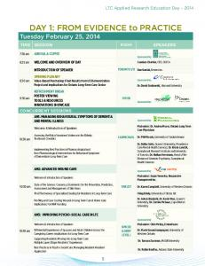 DAY 1: FROM EVIDENCE to PRACTICE Tuesday February 25, 2014