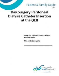 Day Surgery Peritoneal Dialysis Catheter Insertion at the QEII