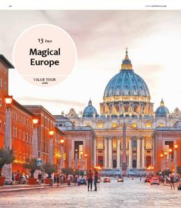 Days. Magical Europe VALUE TOUR