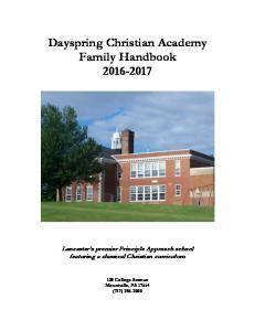 Dayspring Christian Academy Family Handbook