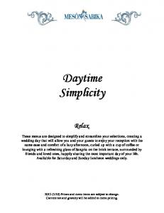 Daytime Simplicity. Relax