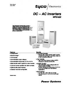 DC AC Inverters WP91652