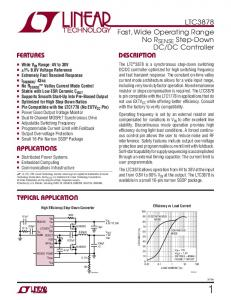 DC Controller Description. Features. Applications. Typical Application