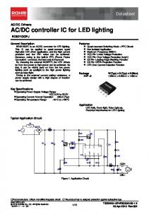 DC controller IC for LED lighting BD521GOFJ