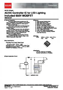 DC Controller IC for LED Lighting Included 650V MOSFET BM520Q15F