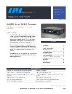 DC Converter. Description. The leader in rugged fiber optic technology