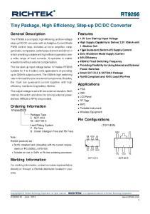 DC Converter. General Description. Features. Applications. Ordering Information. Pin Configurations