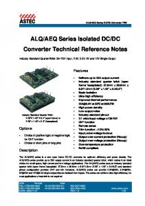 DC Converter Technical Reference Notes
