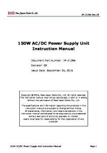 DC Power Supply Unit Instruction Manual