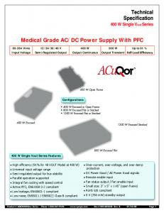 DC Power Supply With PFC