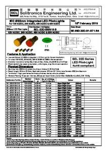 DC. SEL 22D Series LED Pilot-Light RoHS compliant