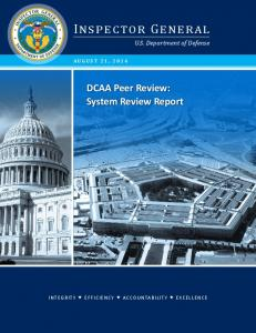DCAA Peer Review: System Review Report