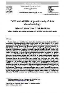 DCD and ADHD: A genetic study of their shared aetiology