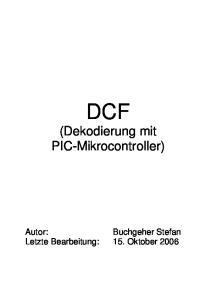 DCF (Dekodierung mit PIC-Mikrocontroller)