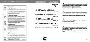 DCF Jumbo LCD Clock. Horloge DCF-Jumbo-LCD. DCF-Jumbo-LCD-Uhr DCF-JUMBO-LCD-KLOK
