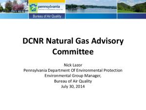 DCNR Natural Gas Advisory Committee