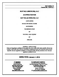 DCP NGL SERVICES, LLC