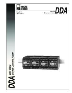 DDA DDA. Direct Current Alarm. DIN-style. DIN-style. May C. Direct Current Alarm