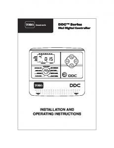 DDC Series Dial Digital Controller INSTALLATION AND OPERATING INSTRUCTIONS