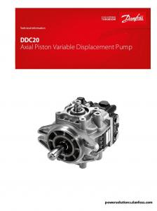 DDC20 Axial Piston Variable Displacement Pump