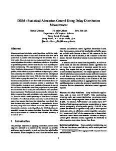 DDM : Statistical Admission Control Using Delay Distribution Measurement