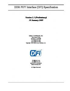 DDR PHY Interface (DFI) Specification