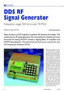DDS RF Signal Generator