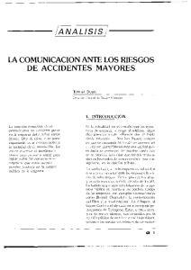 DE ACCIDENTES MAYORES