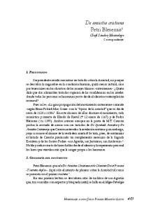 De amicitia cristiana Petri Blesensis 1 Cleofé Sánchez Montealegre Correspondiente