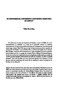 DE CONVERGENCIAS, CONFESIONES Y CONFESORES (