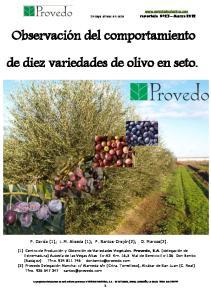 de diez variedades de olivo en seto