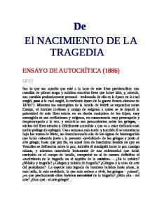De El NACIMIENTO DE LA TRAGEDIA