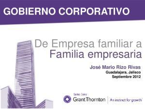 De Empresa familiar a Familia empresaria