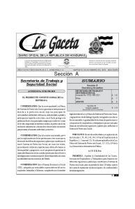 DE HONDURAS - TEGUCIGALPA, M. D. C., 10 DE NOVIEMBRE DEL