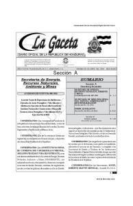 DE HONDURAS - TEGUCIGALPA, M. D. C., 29 DE ABRIL DEL