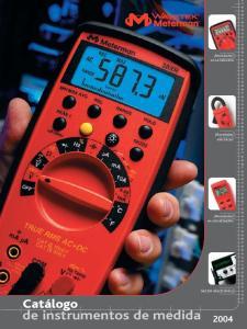 de instrumentos de medida 2004
